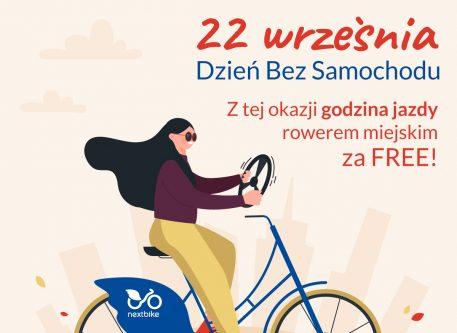 W Dzień Bez Samochodu przesiądź się na rowery miejskie Nextbike!